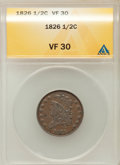 1826 1/2 C VF30 ANACS. NGC Census: (9/425). PCGS Population (12/243). Mintage: 234,000. Numismedia Wsl. Price for proble...