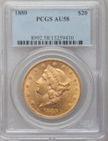 Liberty Double Eagles, 1880 $20 AU58 PCGS....