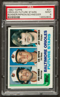 Baseball Cards:Singles (1970-Now), 1982 Topps Cal Ripken Jr. Rookie #21 PSA Mint 9....