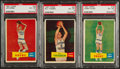 Basketball Cards:Lots, 1957 Topps Basketball PSA EX-MT 6 Trio (3)....
