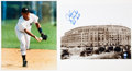 Baseball Collectibles:Photos, Derek Jeter and Alex Rodriguez Signed Oversized Photographs Lot of2....