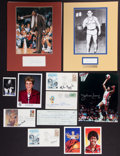 Baseball Collectibles:Others, Basketball Greats Signed and Unsigned Memorabilia Lot of 15....