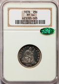Proof Seated Quarters, 1878 25C PR64 NGC. CAC....