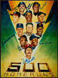 Baseball Collectibles:Photos, 500 Home Run Club Signed Print. ...