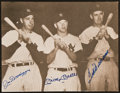 Baseball Collectibles:Photos, Joe DiMaggio, Mickey Mantle and Ted Williams Multi Signed OversizedPhotograph....