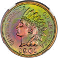 Proof Indian Cents, 1901 1C Indian Cent PR67 ★ Red and Brown NGC....