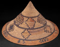 African, A SOUTH AFRICAN WOVEN IMBENGE . Zulu, early 20thcentury . 5-1/2 inches high x 9-1/4 inches diameter (14.0 x 23....