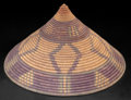African, A SOUTH AFRICAN WOVEN IMBENGE . Zulu, early 20thcentury . 5 inches high x 9-1/4 inches diameter (12.7 x 23...
