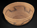 African, A SOUTH AFRICAN SMALL WOVEN BASKET . Zulu, early 20thcentury. 7-1/2 inches diameter (19.1 cm). ...