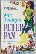 "Movie Posters:Animation, Peter Pan (Buena Vista, R-1976). One Sheet (27"" X 41"") Flat Folded.Animation.. ..."