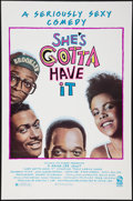 "Movie Posters:Black Films, She's Gotta Have It (Island, 1986). One Sheet (27"" X 41""). Flatfolded. Black Films.. ..."
