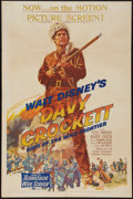 "Movie Posters:Western, Davy Crockett, King of the Wild Frontier (Buena Vista, 1955). One Sheet (27"" X 41""). Western.. ..."