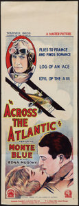 "Movie Posters:Adventure, Across the Atlantic (Warner Brothers, 1928). Pre-War AustralianDaybill (15"" X 40""). Adventure.. ..."