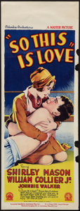 "Movie Posters:Comedy, So This Is Love (Columbia, 1928). Pre-War Australian Daybill (15"" X 40""). Comedy.. ..."