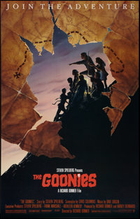 "The Goonies (Warner Brothers, 1985). Full-Bleed One Sheet (25"" X 39"") Special Run Style B. Adventure"