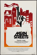 "Movie Posters:Crime, Mean Streets (Warner Brothers, 1973). One Sheet (27"" X 41""). Crime.. ..."