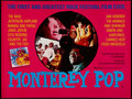 "Movie Posters:Rock and Roll, Monterey Pop (Blue Dolphin, R-1982). British Quad (30"" X 40""). Rockand Roll.. ..."