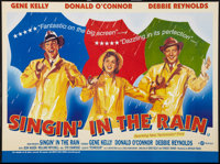 "Singin' in the Rain (BFI, R-2000). British Quad (30"" X 40""). Musical"
