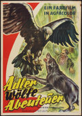 "Movie Posters:Documentary, Eagle, Wolf, and the Adventurer (Artkino Pictures, 1954). German A1 (24"" X 34""). Documentary.. ..."