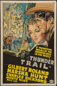 """Thunder Trail (Paramount, 1937). Other Company One Sheet (27"""" X 41""""). Western"""