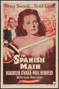 "Movie Posters:Adventure, The Spanish Main (RKO, R-1954). One Sheet (27"" X 41""). Adventure....."