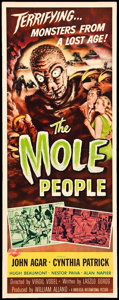 "Movie Posters:Science Fiction, The Mole People (Universal International, 1956). Insert (14"" X36""). Science Fiction.. ..."