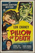 """Movie Posters:Horror, Pillow of Death (Universal, 1945). One Sheet (27"""" X 41""""). Horror....."""