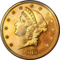 Proof Liberty Double Eagles, 1885 $20 PR63+ Cameo PCGS. CAC....