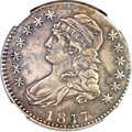 Bust Half Dollars, 1817/4 50C -- Environmental Damage -- NGC. XF Details. O-102a, R.7....