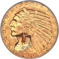 Indian Half Eagles, 1914-D $5 MS66 PCGS....