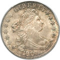 Early Dimes, 1807 10C -- Curved Clipped Planchet -- MS66 PCGS. CAC. JR-1,R.2....