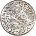 Colonials, 1776 $1 Continental Dollar, CURRENCY, Pewter MS64 PCGS Secure. CAC.Newman 2-C, Hodder 2-A.3, W-8455, R.4....