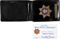 Music Memorabilia:Memorabilia, Elvis Presley's Honorary Palm Springs Police Badge and ID Card.... (Total: 6 Items)