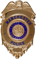 Music Memorabilia:Memorabilia, Elvis Presley Owned Manchester, Connecticut Police Badge (1975)....