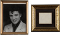 Music Memorabilia:Autographs and Signed Items, Elvis Presley Autograph and Photo (c. 1956).... (Total: 2 Items)