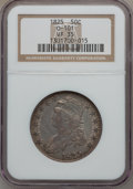 Bust Half Dollars: , 1825 50C VF35 NGC. 0-101. NGC Census: (27/910). PCGS Population(61/1021). Mintage: 2,900,000. Numismedia Wsl. Price for p...