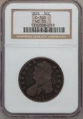 Bust Half Dollars: , 1825 50C VG10 NGC. 0-103. NGC Census: (3/1002). PCGS Population(4/1151). Mintage: 2,900,000. Numismedia Wsl. Price for pr...