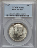 Kennedy Half Dollars, 1967 50C Double Die Reverse MS62 PCGS. FS-801. PCGS Population(25/634). NGC Census: (16/301). Mintage: 295,046,976. Numism...