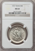 Commemorative Silver: , 1937 50C Texas MS64 NGC. NGC Census: (223/863). PCGS Population(431/1078). Mintage: 6,571. Numismedia Wsl. Price for probl...