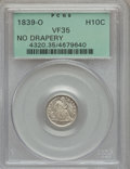 Seated Half Dimes: , 1839-O H10C No Drapery VF35 PCGS. PCGS Population (6/60). NGCCensus: (1/59). Mintage: 1,000,000. Numismedia Wsl. Price for...
