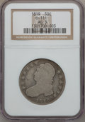 Bust Half Dollars, 1819 50C AG3 NGC. 0-111. NGC Census: (0/389). PCGS Population(1/441). Mintage: 2,208,000. Numismedia Wsl. Price for probl...