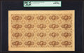 Fractional Currency:First Issue, Fr. 1230 5¢ First Issue Full Sheet of Twenty PCGS Gem New 65PPQ.....