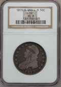 Bust Half Dollars: , 1819/8 50C Small 9 VG8 NGC. 0-101. NGC Census: (3/289). PCGSPopulation (1/215). Numismedia Wsl. Price for problem free N...