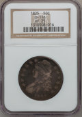 Bust Half Dollars: , 1825 50C VF25 NGC. 0-116. NGC Census: (14/966). PCGS Population(16/1115). Mintage: 2,900,000. Numismedia Wsl. Price for p...