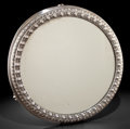 Silver Holloware, Continental:Holloware, A CONTINENTAL SILVER PLATED MIRRORED PLATEAU . 20th century. Marksto wood: B, CCXL, 111. 18-3/4 inches diameter (47.6 c...