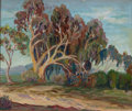 Fine Art - Painting, American:Contemporary   (1950 to present)  , CALIFORNIA SCHOOL (20th Century). Eucalyptus Trees. Oil oncanvas board. 20 x 24 inches (50.8 x 61.0 cm). Initialed lowe...