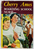 Books:Children's Books, Helen Wells. Cherry Ames: Boarding School Nurse. Grosset& Dunlap, 1955. Later impression. Owner's name. Offsetting....