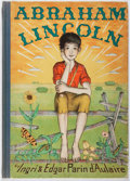 Books:Children's Books, Ingri and Edgar Parin d'Aulaire. Abraham Lincoln. Doubleday,Doran, 1939. First edition, first printing. Spine sunne...