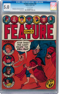 Golden Age (1938-1955):Miscellaneous, Feature Comics #30 (Quality, 1940) CGC VG/FN 5.0 Off-white pages....