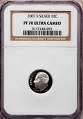 Proof Roosevelt Dimes, 2007-S 10C Silver PR70 Ultra Cameo NGC. NGC Census: (0). PCGSPopulation (453). Numismedia Wsl. Price for problem free NGC...